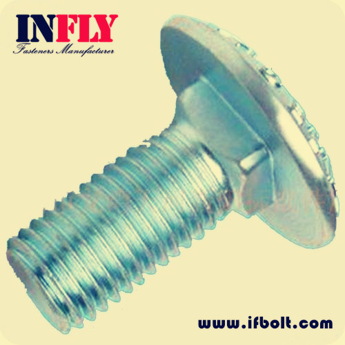 Metric DIN Carriage Bolt - Mushroom Head Square Neck Bolts