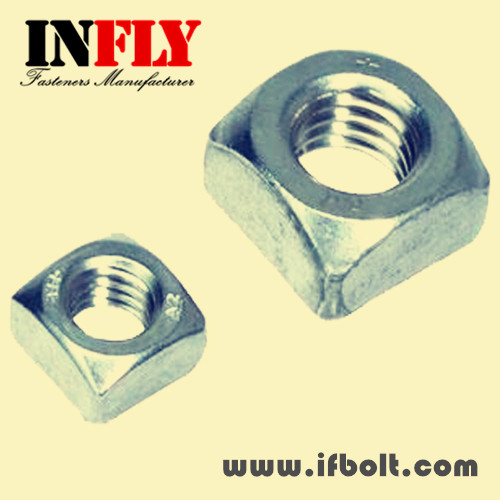 Square Nuts in stock- DIN557 Zinc H.D.G