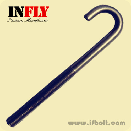 Hook bolts|J-bolts L-bolt in carbon steel Cl 4 8-8 8