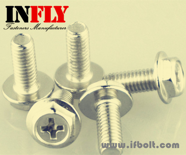 Phillips Hex Flange Bolt- Hexagon head flange screw with cutting point