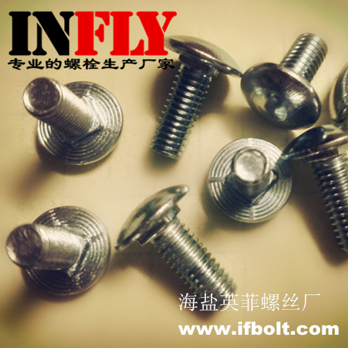 Supply Carriage bolt in stock M6*12 M6*16 neck=1.5mm