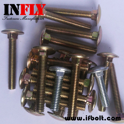 Small Head Carriage Bolt - Small Mushroom Head Square Neck Bolts
