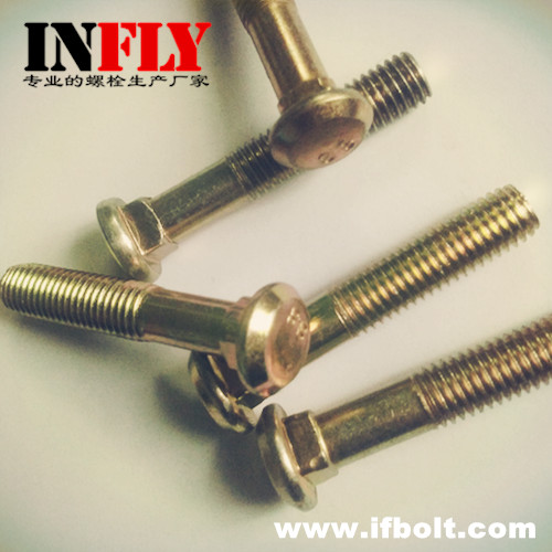 Flat Head Carriage Bolt DIN608 - Countersunk Head Square Neck Bolts