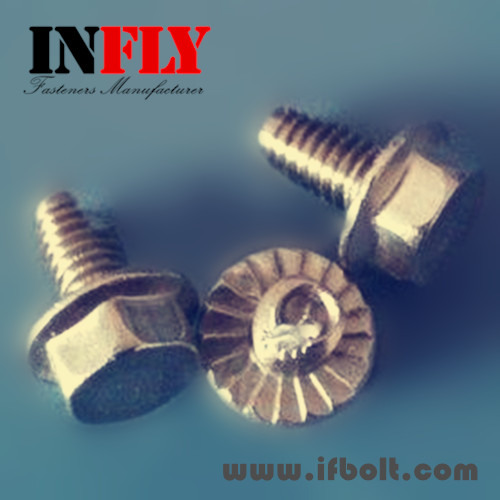 Phillips Hex Flange screw with cutting point